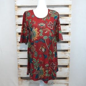 NORTHSTYLE FLORAL PRINT TUNIC TOP SIZE LARGE